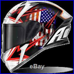 Casco Helmet Integrale Airoh 2017 Valor Sam Black Gloss Nero Lucido Moto