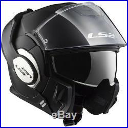 Casco Modulare Apribile Ls2 Ff399 Valiant Solid Matt Black Nero Xs S M L XL XXL