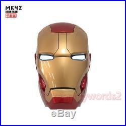 Cattoys Iron Man MK42 Helmet 11 Mask Wearable LED Eye Light Manual Open Cosplay