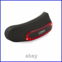 Cosmo Moto Matt Black Motorcycle Helmet Brake Light System