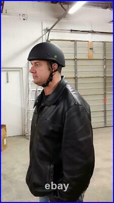 Crazy Al's WORLD'S SMALLEST LIGHTEST SOA Style DOT Flat Black Half Helmet