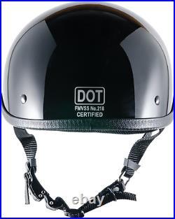 Crazy Al's WORLD'S SMALLEST LIGHTEST SOA Style DOT Gloss Black Half Helmet