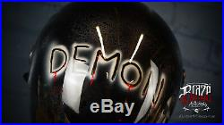 Custom Airbrushed/painted Skull Reaper fibreglass helmet Bandit Simpson style
