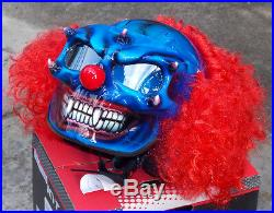 Custom Motorcycle Jet Helmet Killer CLOWN Visor with Hair DOT