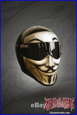 Custom painted Vendetta Matrix Street Fx Motorcycle helmet