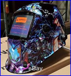 DMN New Pro Auto Darkening Welding+Grinding hood helmet