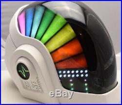 Daft Punk Helmet Guy Man Discovery Era, with LEDs, White DJ, EDC