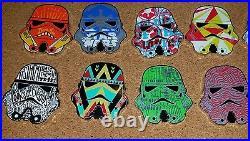 Disney Pin Star Wars Stormtrooper Helmets Mystery Complete Set 16 Pins LAST SET
