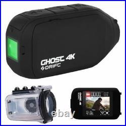 Drift HD GHOST 4K MC PACK LCD Screen & Case Free Action Waterproof Helmet Camera