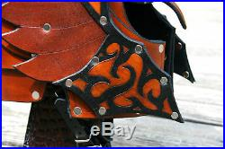 Elven Hawk Winged Leather Helmet Fantasy Armor SCA LARP reenactor medieval