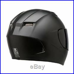 FAST FREE SHIPPING BELL QUALIFIER DLX BLACKOUT MOTORCYCLE HELMET with2 shields