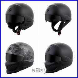 FAST FREE SHIPPING Scorpion Covert Motorcycle Helmet 3 in 1 Black, White, Camo