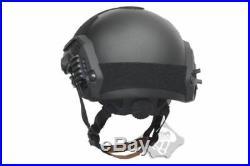 FMA Tactical Ballistic IIIA Bulletproof Helmet Aramid Fiber Maritime M/L Black