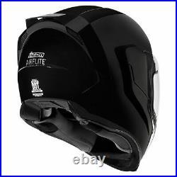FREE SHIPPING Icon Airflite Gloss Black Full Face DOT Motorcycle Helmet