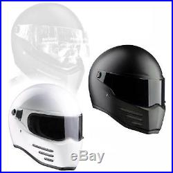 Fighter Bandit Fiberglas Motorrad Helm Streetfighter Mad Max ECE 22-05 geprüft