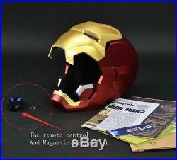 Fine 11 Replica Full metal Polished Iron Man MK42 LED eye Helmet Remote Control