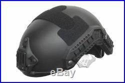 Fma Tactical Ballistic Iiia Bulletproof Helmet Aramid Fiber Maritime L/xl Black