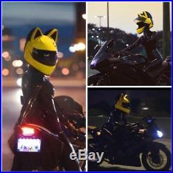 Full Face Helmet Cat ears moto casco Motorcycle racing helmet NITRINOS 2020