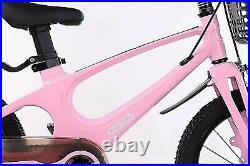 Girls Kids Children Child Bike Bicycle Pink Blue 16 inch Free Helmet And Pump