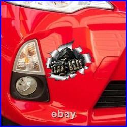 Grim Reaper Skull Skeleton Sticker, Car, Motorbike Motorcycle Scary Helmet UK