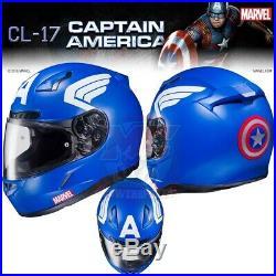 HJC CL-17 Marvel CAPTAIN AMERICA Motorcycle Helmet! CLOSEOUT! $179.99 Retail