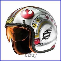 HJC FG-70S Star Wars Fighter Pilot Open Face Motorbike Motorcycle Helmet X-Wing