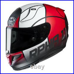 HJC RPHA 11 Full Face Sports Motorcycle helmet Quintain Red White Black £100 OFF