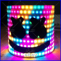 Halloween Bar Music MarshMello LED DJ Mask Tiesto Full Head Helmet Cosplay Props