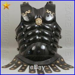 Halloween Costume 300 Medieval King Roman Leonidas Spartan Helmet Muscle jacket