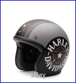 Harley-Davidson Grey Star Retro 3/4 Jet Helm Gr. M = ca. 57-58 cm Jethelm