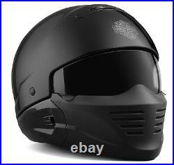 Harley-Davidson Helm Pilot II, 2in1 3/4 Jet oder mit Kinnschutz im Look
