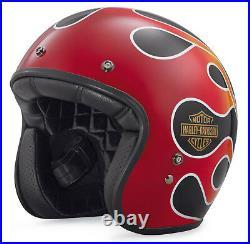 Harley-Davidson Retro Flame Open Face Helmet