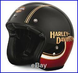 Harley-Davidson The Shovel 3/4 Red/Black Helmet EU/UK ROAD LEGAL Bell 500