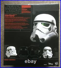 Hasbro Black Series Star Wars Stormtrooper Voice Changer Helmet Prop Replica