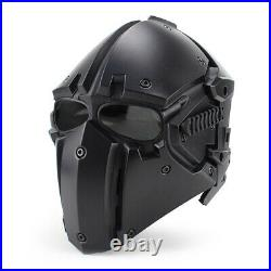 Helmet Airsoft Paintball CF CS Game Full Face Mask Tactical Protect Goggles Blac