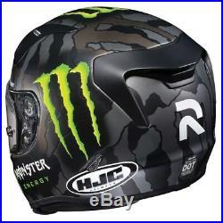 Hjc R-pha Rpha 11 Monster Energy Military Camo Motorbike Helmet New