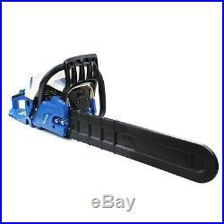 Hyundai 62cc 20 Petrol Chainsaw 2x Chains, 2x 2-Stroke Oil, Chain Oil & Helmet
