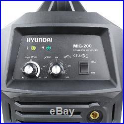 Hyundai MIG Gas Welder Inverter 200Amps MMA ARC Welding + Welding Helmet