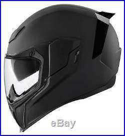 ICON AirFlite RUBATONE Full-Face Helmet with Dropdown Sun Visor (Matte Black)