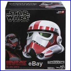 (IN-HAND) Star Wars Black Series Shock Trooper Electronic 1/1 Helmet NEW UK