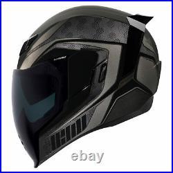 Icon Airflite RaceFlite Black Full Face Motorcycle Motorbike Helmet