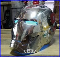 Iron Man Helmet Metal Mark 2 Ironman Helmet with LED Eyes Iron Man Cosplay