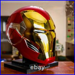 Iron Man Helmet mk85 Touch Opening Closing LED Light Mask ABS Cosplay Prop Gift