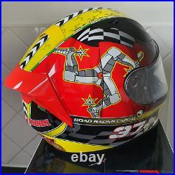 Isle of Man TT Mann3 Road Racing Capital of the World Motorcycle Helmet