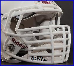 JUSTIN TUCK style Riddell Revolution SPEED Football Helmet Facemask WHITE