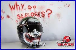 Joker Custom painted motorcycle helmet Matrix StreetFX, bandit simpson style