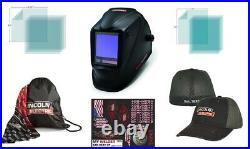 LINCOLN VIKING 3350 Black Welding Helmet K3034-4 With Free Hat & Accessories