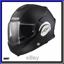 LS2 Klapphelm Motorradhelm FF399 Valiant Mono schwarz black matt / Zubehör