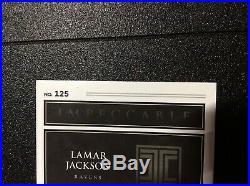 Lamar Jackson 2018 Impeccable Auto Helmet Patch #8/75 Rookie Ravens Jersey 1/1