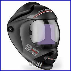 Large Viewing True Color Solar Powered Auto Darkening Welding Helmet, 4 Arc Sens